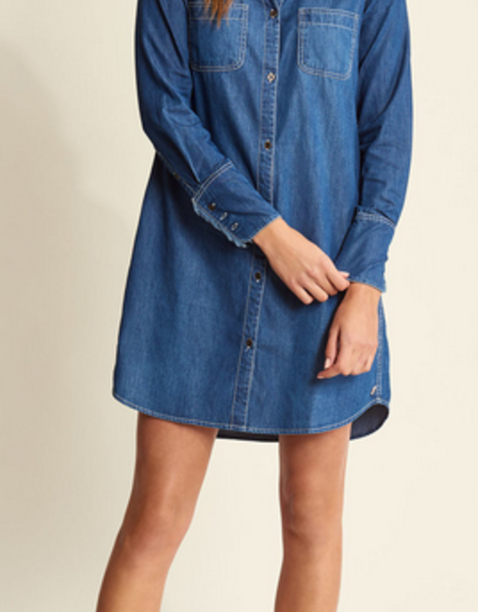 HATLEY DENIM SHIRT DRESS