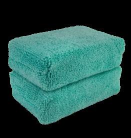 Chemical Guys MIC29802 Green - (2 Pack) Microfiber Applicator Premium Grade_x005F_x000D_