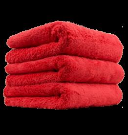 Chemical Guys MIC35103 Happy Ending Edgeless Microfiber Towel, Red 16''X16'' (3 Pack)