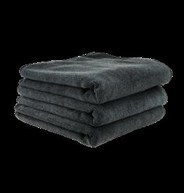 Chemical Guys MIC35303 Workhorse Black Professional Grade Microfiber Towel 16''X16'' (Rubber/Plastic/Vinyl) (3 Pack)