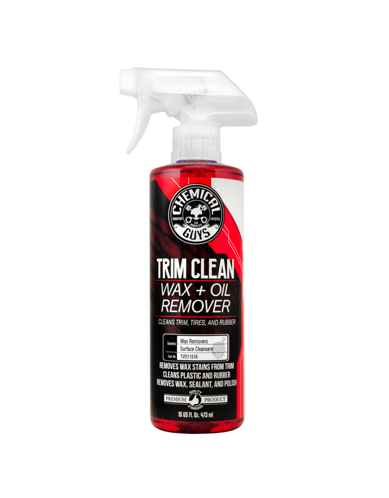 Chemical Guys Trim Clean Wax and Oil Remover for Trim, Tires, and Rubber (16 oz)