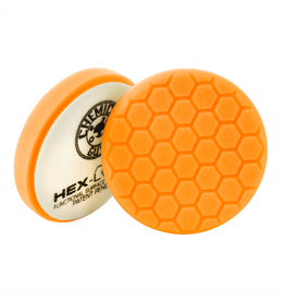 Hex-Logic BUFX_102HEX4 4'' Hex-Logic Pad Orange Medium-Heavy Cut Scratch & Swirl Remover Pad- (4''Inch)