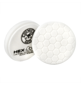 Hex-Logic BUFX_104HEX4 4'' Hex-Logic Pad - White Medium Light Polishing Pad (4''Inch)