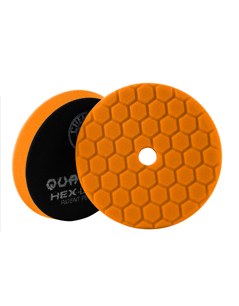 Hex-Logic BUFX112HEX6 Hex-Logic Quantum Buffing Pad -Orange -6.5''