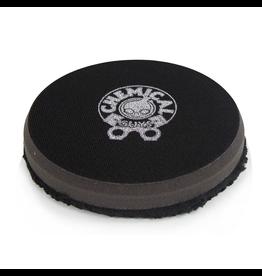Chemical Guys BUFX_301_4 4'' Finishing Micro Fiber Pad, Black  Inner Foam, 3/4'' Thickness (1pcs)