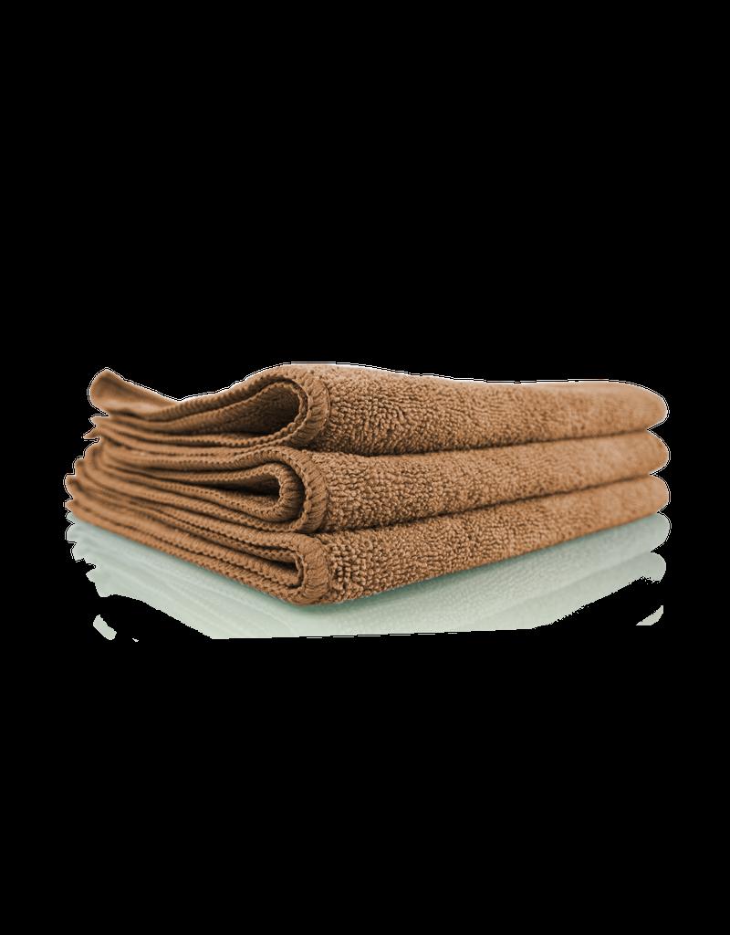 "Chemical Guys MIC34403 Workhorse Professional Microfiber Towel, Tan 16"" x 16"" (3 Pack)"