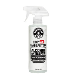 Chemical Guys HYG10016 Hand Sanitizer Alcohol Antiseptic 80% Topical Solution (16 oz)