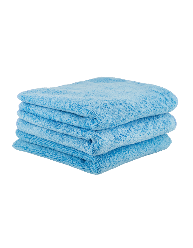 Chemical Guys MICMBLUE03-The Workhorse Towel Professional Grade Microfiber Towels, Blue (3 Pack)