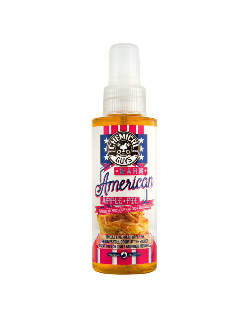 Chemical Guys AIR22704-Warm American Apple Pie Air Freshener & Odor Eliminator (4oz)