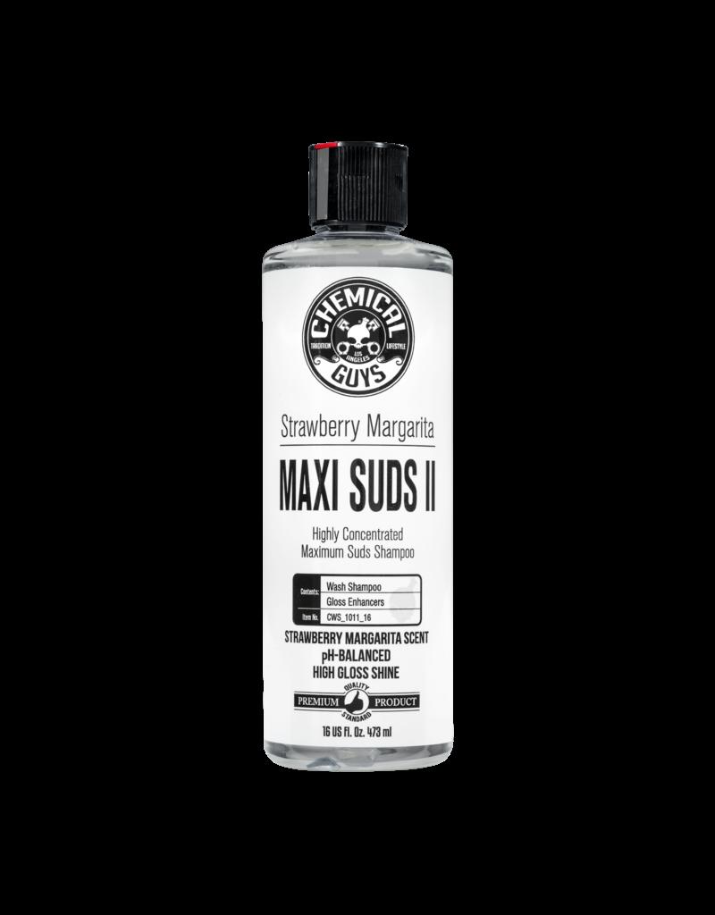 Chemical Guys CWS_1011_16-Maxi-Suds II: Super Suds Shampoo- Strawberry Clear - Superior Surface Shampoo (16 oz)