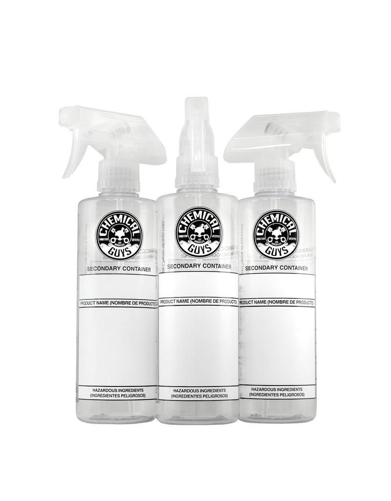 Chemical Guys ACC137-Chemical Guys 16oz Dilution Bottle with Natural Sprayer (3 Pack)