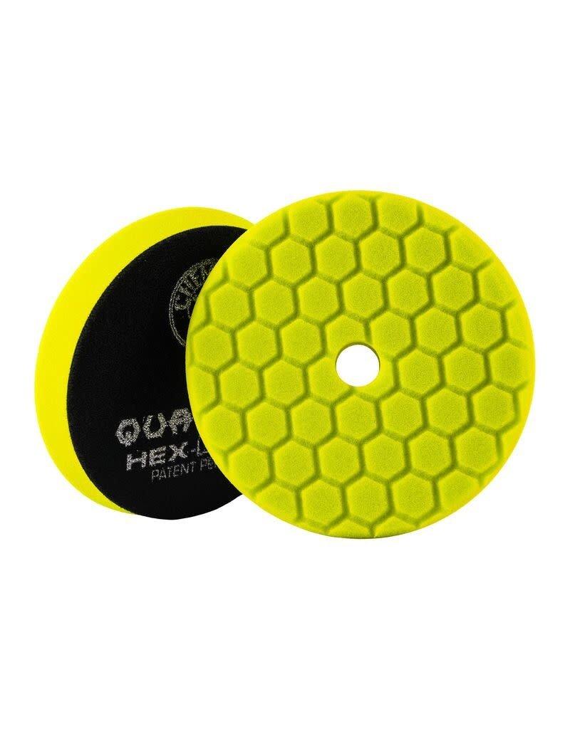 Hex-Logic BUFX111HEX5-Hex-Logic Quantum Buffing Pad -Yellow 5.5''