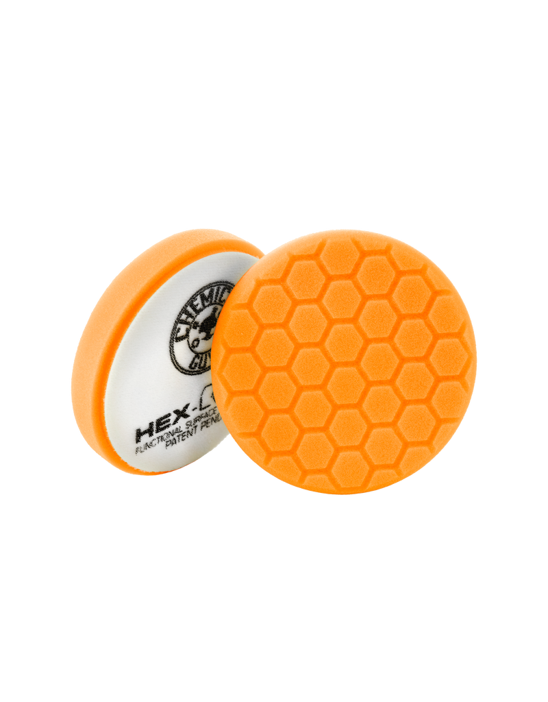 Hex-Logic BUFX_102HEX4-4'' Hex-Logic Pad Orange Medium-Heavy Cut Scratch & Swirl Remover Pad- (4''Inch)