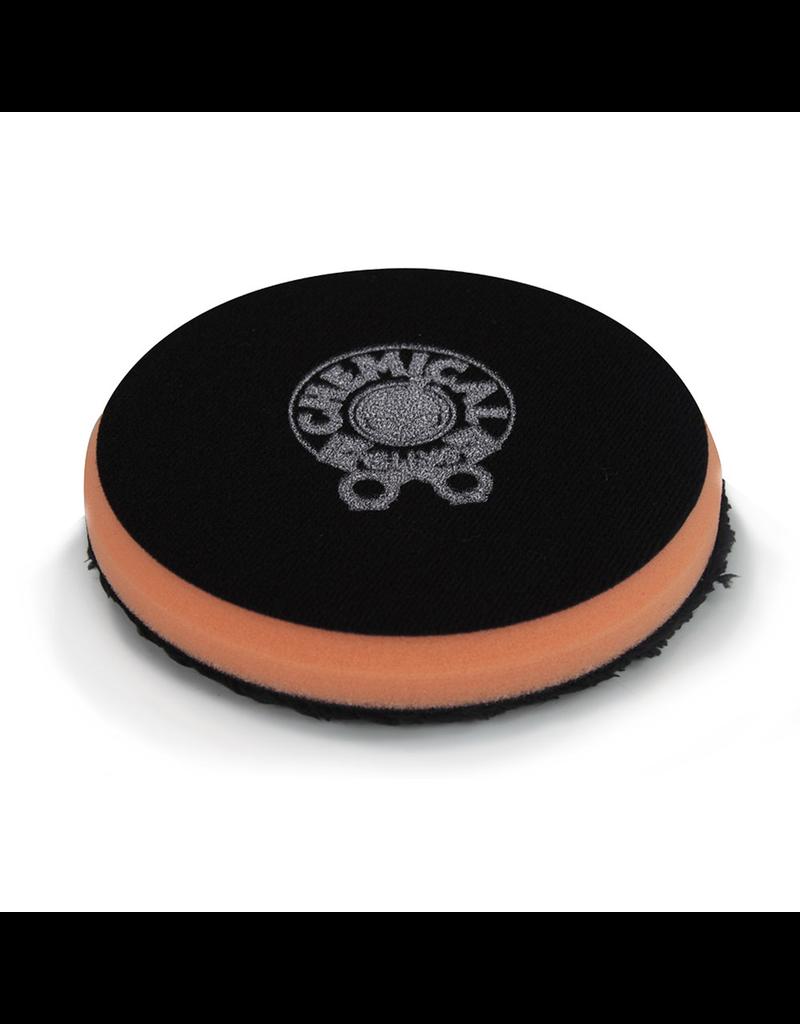 Hex-Logic BUFX_300_4-4'' Cutting Micro Fiber Pad, Orange Inner Foam, 3/4'' Thickness (1pcs)