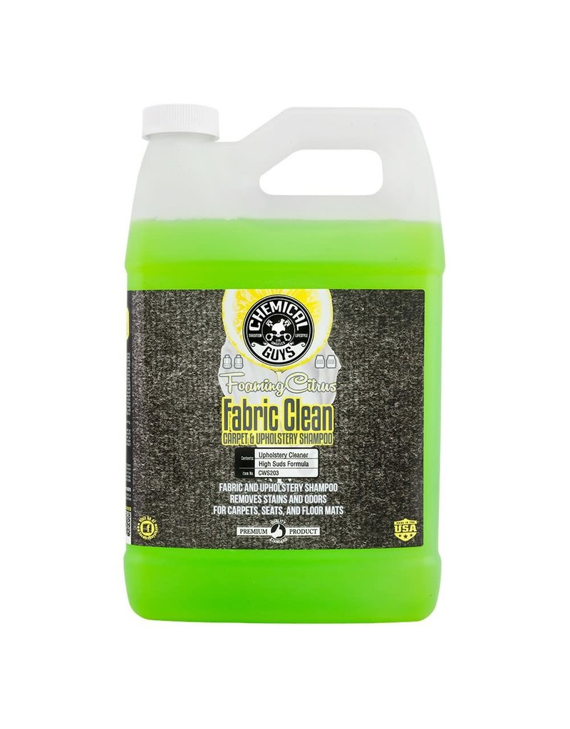 Chemical Guys CWS203- Foaming Citrus Fabric Clean Carpet & Upholstery Shampoo (1 Gal)