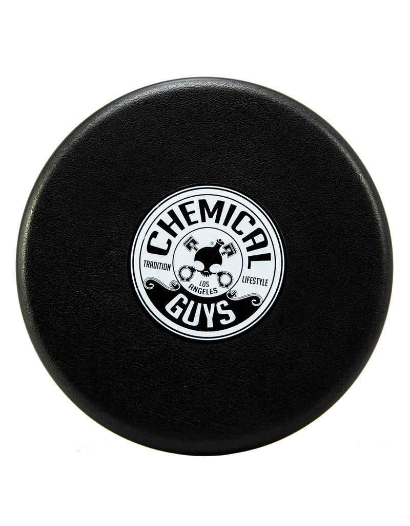 Chemical Guys IAI519-Chemical Guys-Bucket Lid Cap. Black With White Printed Logo (1 Unit)