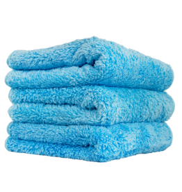 Chemical Guys MIC32103-Shaggy Fur-Ball Premium Detailing Microfiber Towel, Blue 16'' X 16'' (3 Pack)