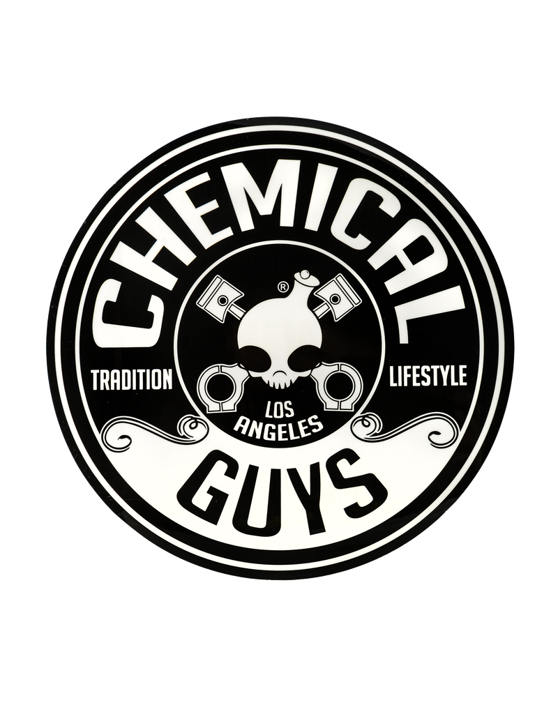 Chemical Guys LAB119-Chemical Guys Logo Stickers, 8inch Die Cut Circle