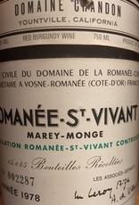 DRC Romanee St Vivant 1978