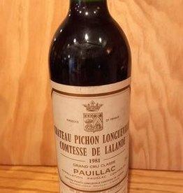 Ch Pichon Longueville Comtesse De Lalande 1981