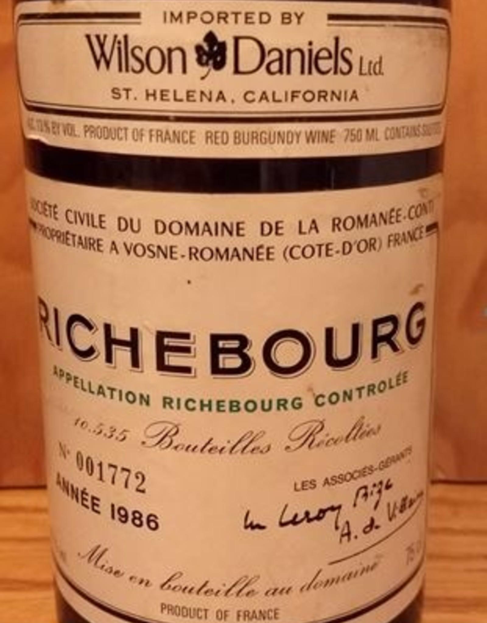DRC Richebourg 1986