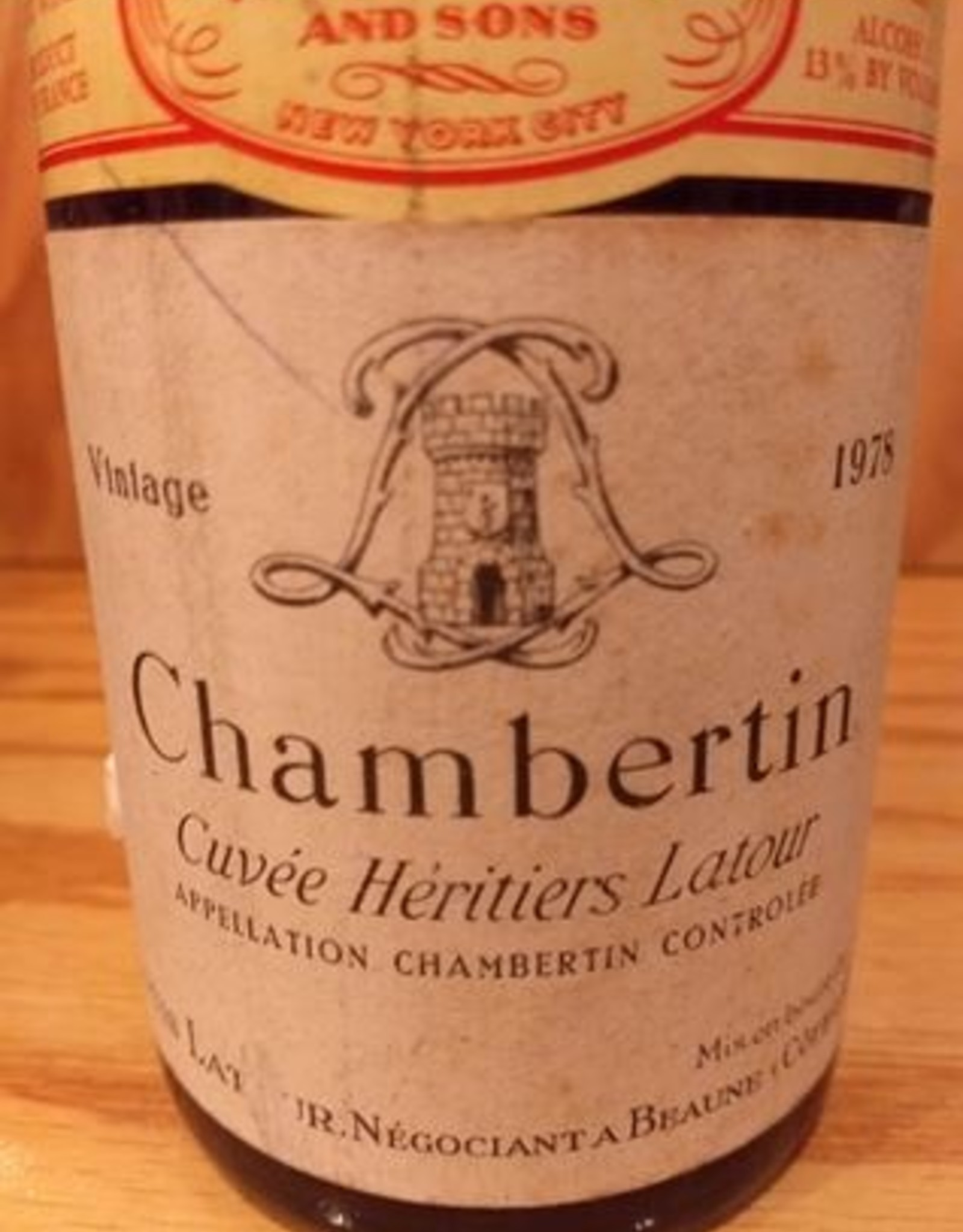 Latour Chambertin Cuvee Heritiers Latour 1978