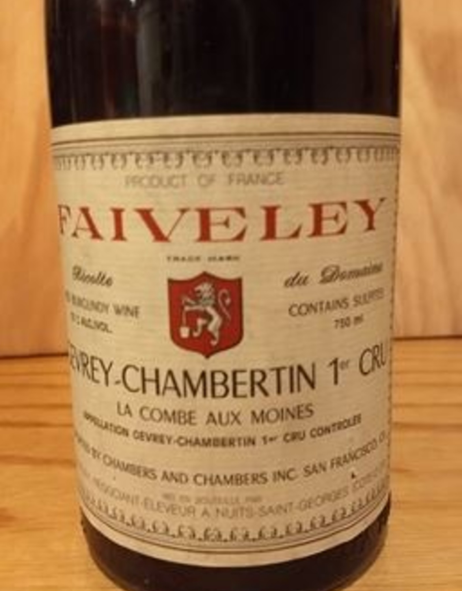 Faiveley Gevrey Chambertin 1988  1er Cru  La Combe Aux Moines