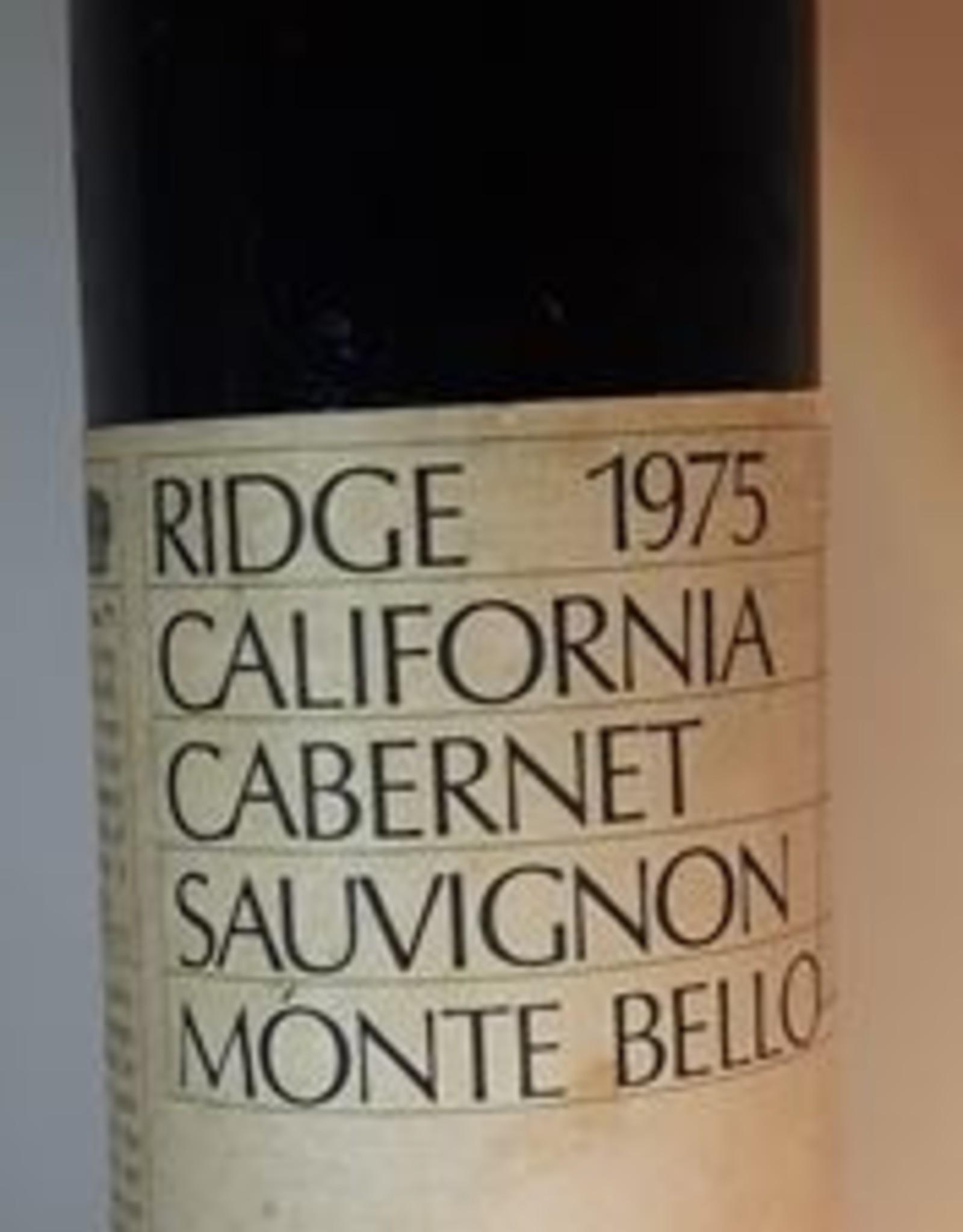 Ridge Cabernet 1975 Monte Bello