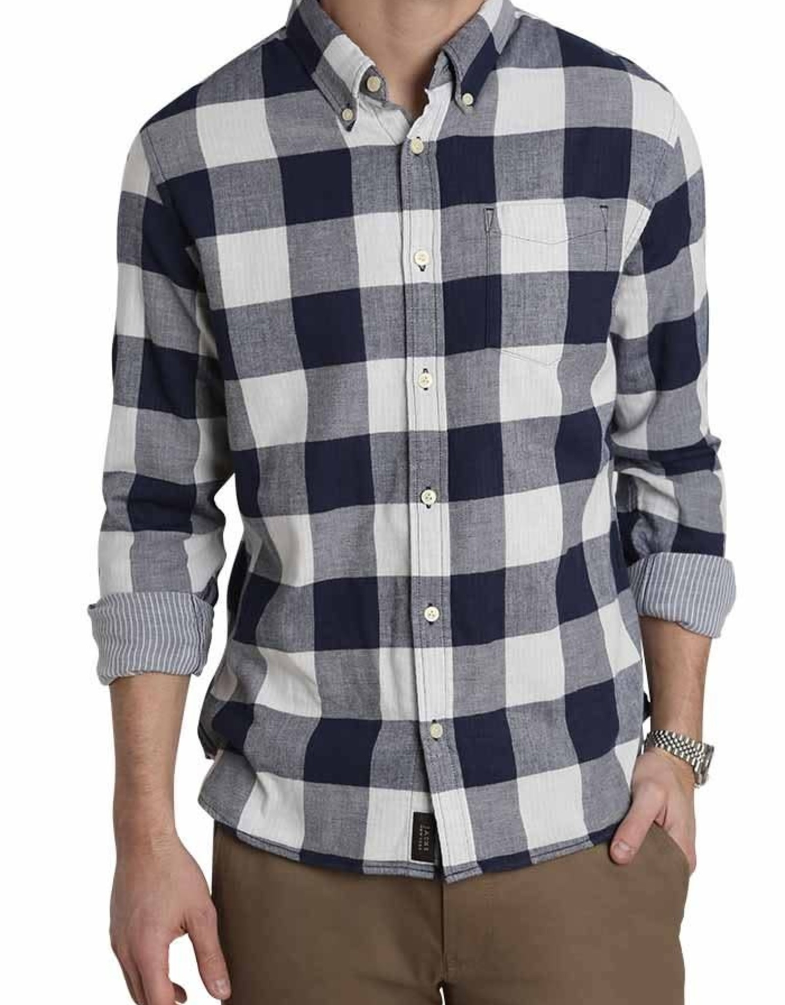Jachs Stretch Double Face Plaid Shirt