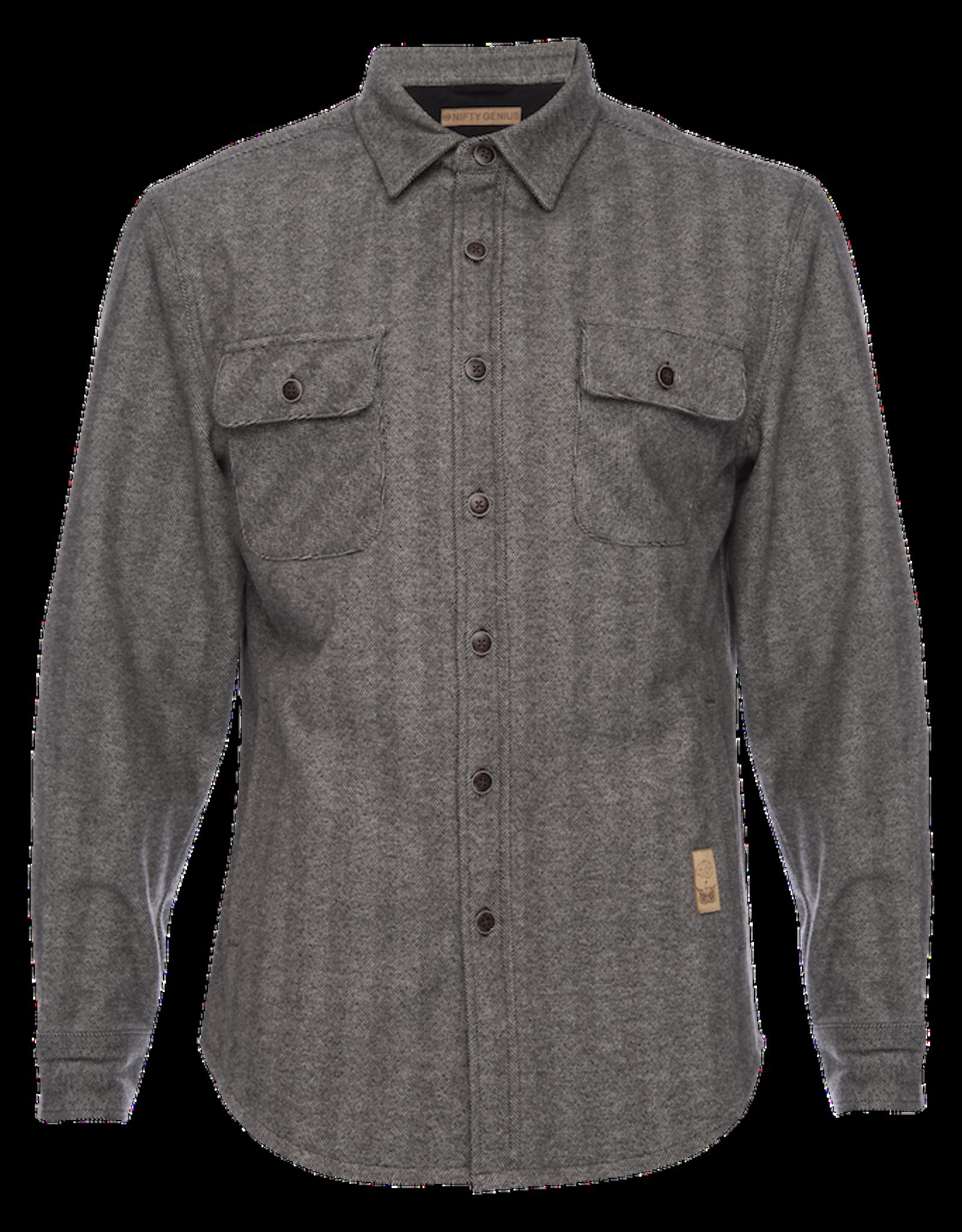 Nifty Genius CPO Herringbone Jacket
