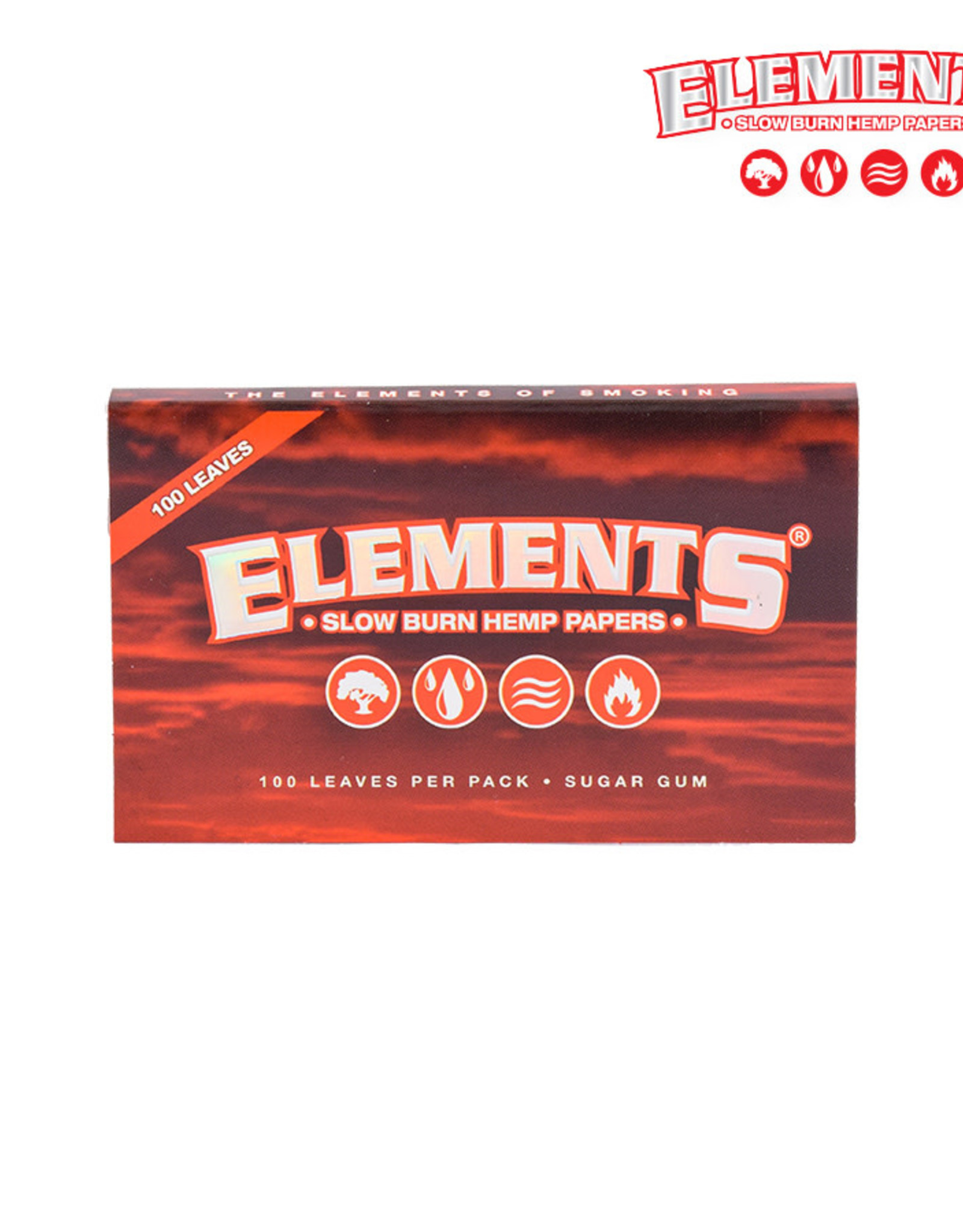 Elements Single Wide Papers - Red