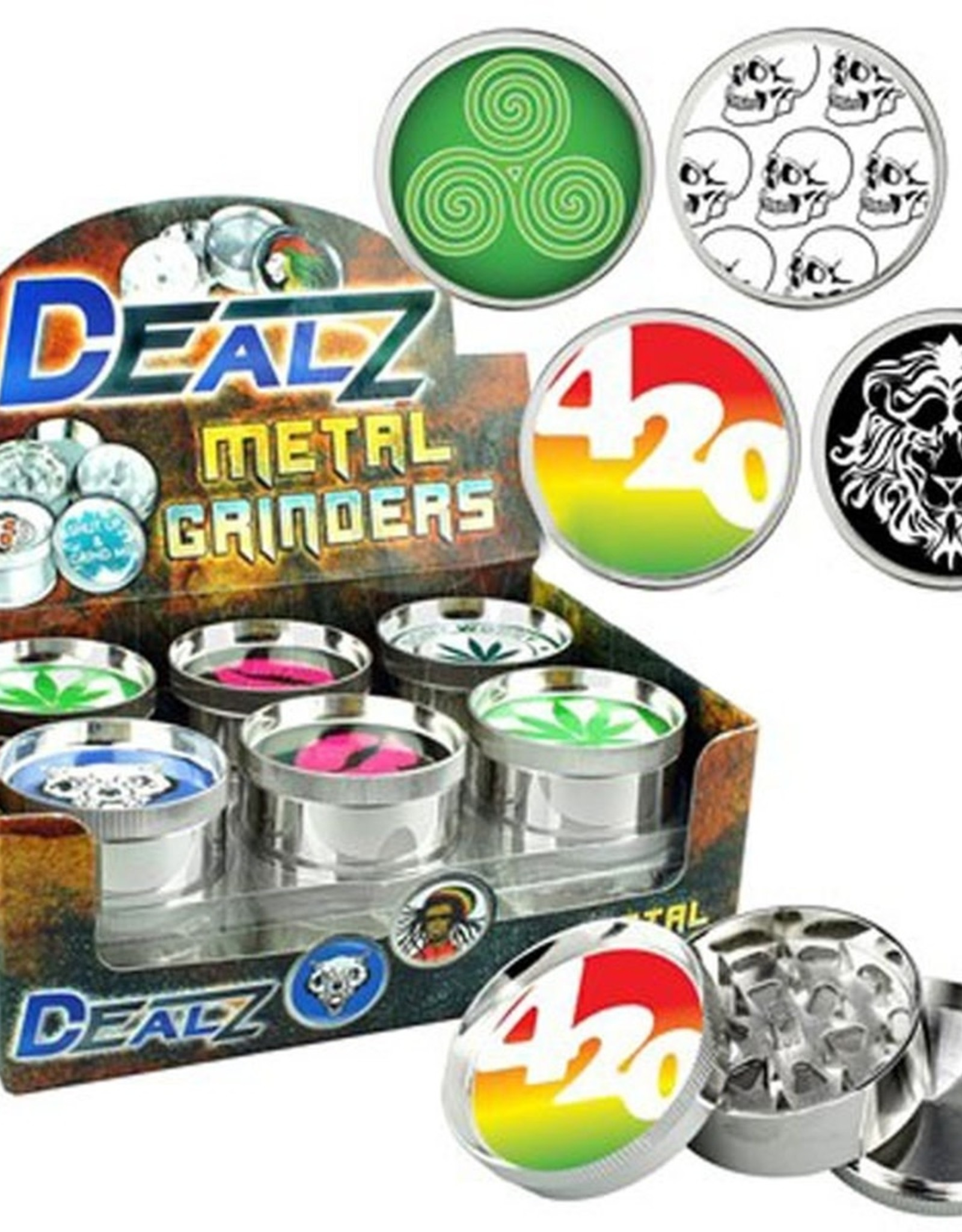 """DEALZ 2.2"""" 3-Piece Zinc Alloy Grinder"""