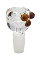 14mm Male Heavy Glass Bowl w/ Nubs
