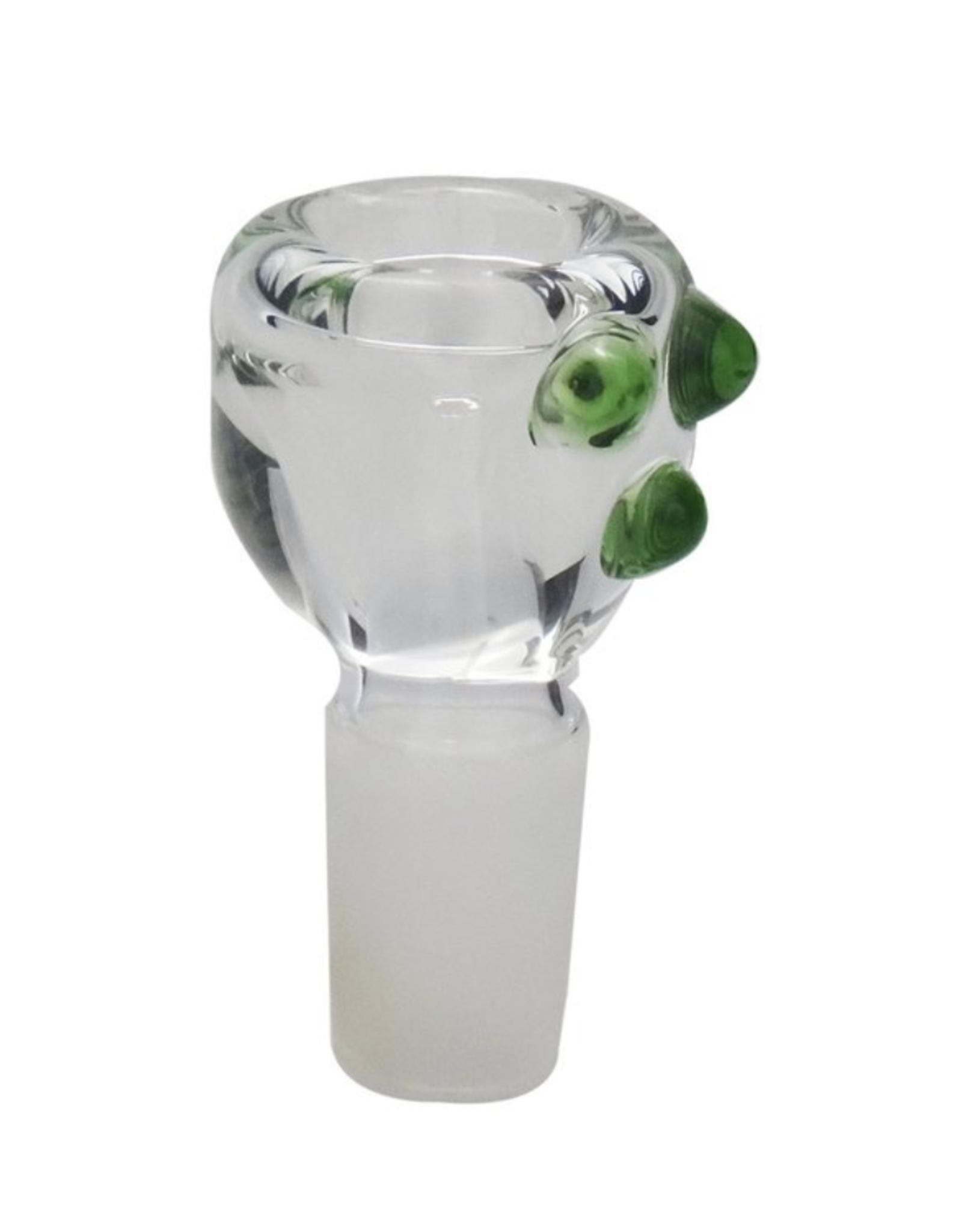 19mm Male Heavy Glass Bowl w/ Nubs