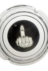 Glass Ashtray - Middle Finger