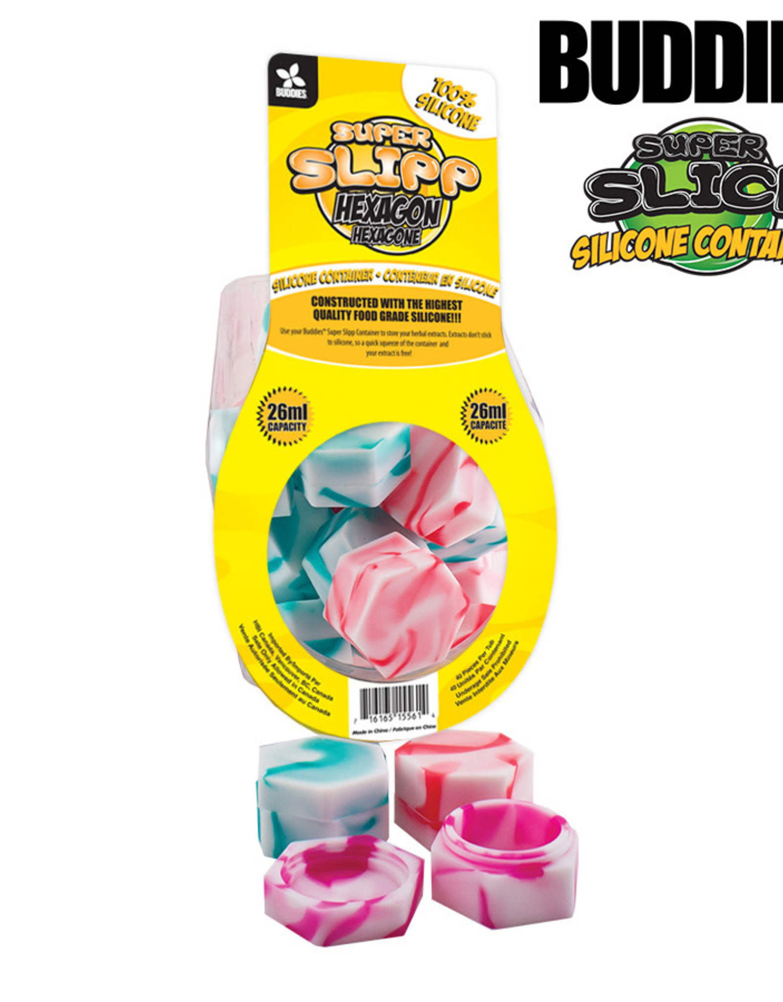 Buddies Silicone Container - Hexagon 26ml