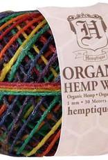 Hemptique Beeswaxed Hemp Wick 100' - Variegated Rainbow