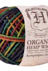 Hemptique Beeswaxed Hemp Wick 100' 2mm - Variegated Rainbow