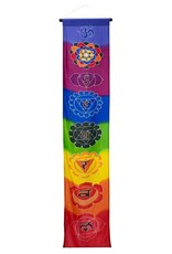 "68"" Long Banner - Multi Color Seven Chakras"