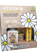 Hempz Take Me Out Gift Set - Manicure Kit - w/ 3 oz Fresh Fusions Hand Cream, 2.25 oz Fresh Fusions Moisturizer & Nail File