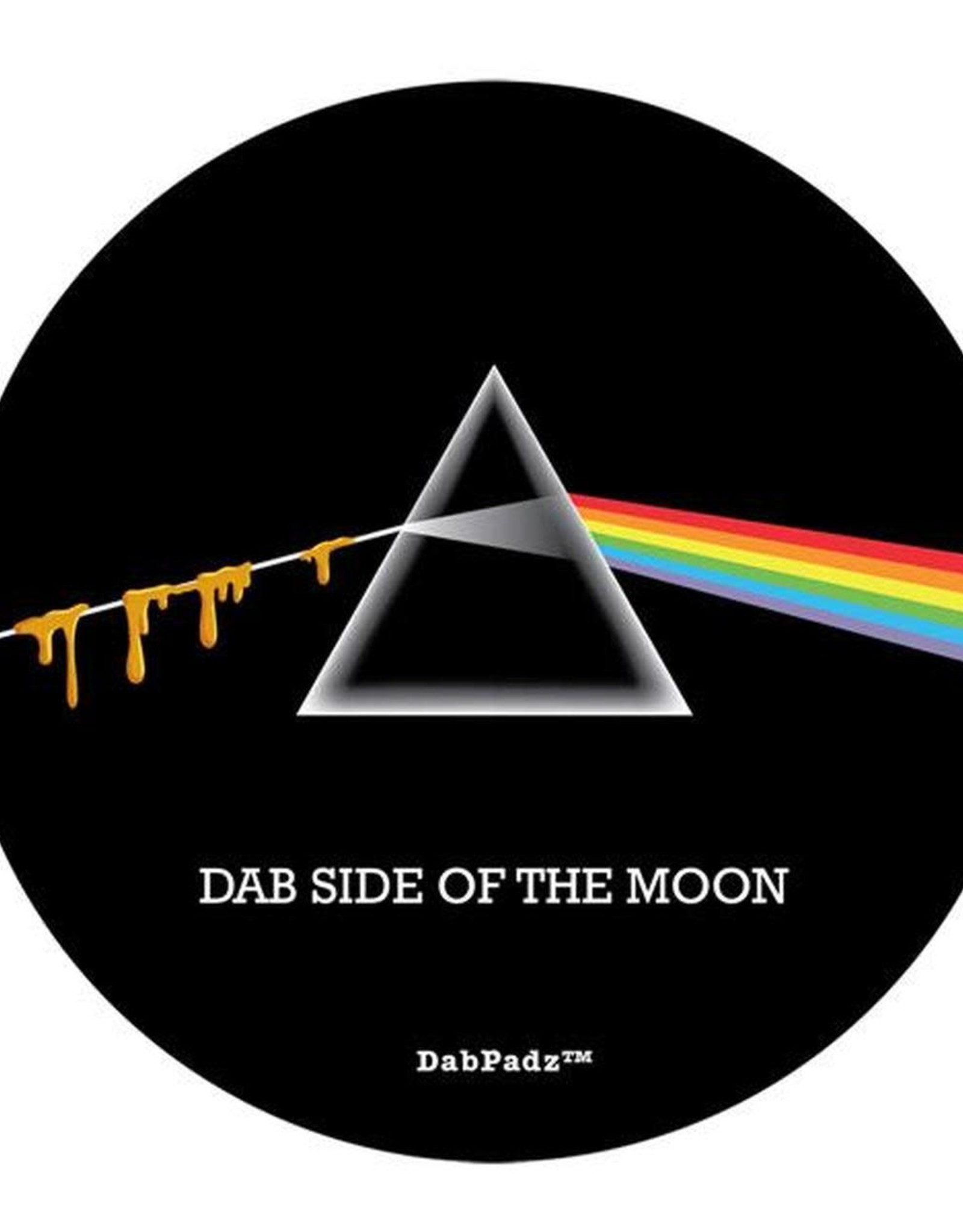 "8"" Dab Side Of The Moon Dab Mat by DabPadz"