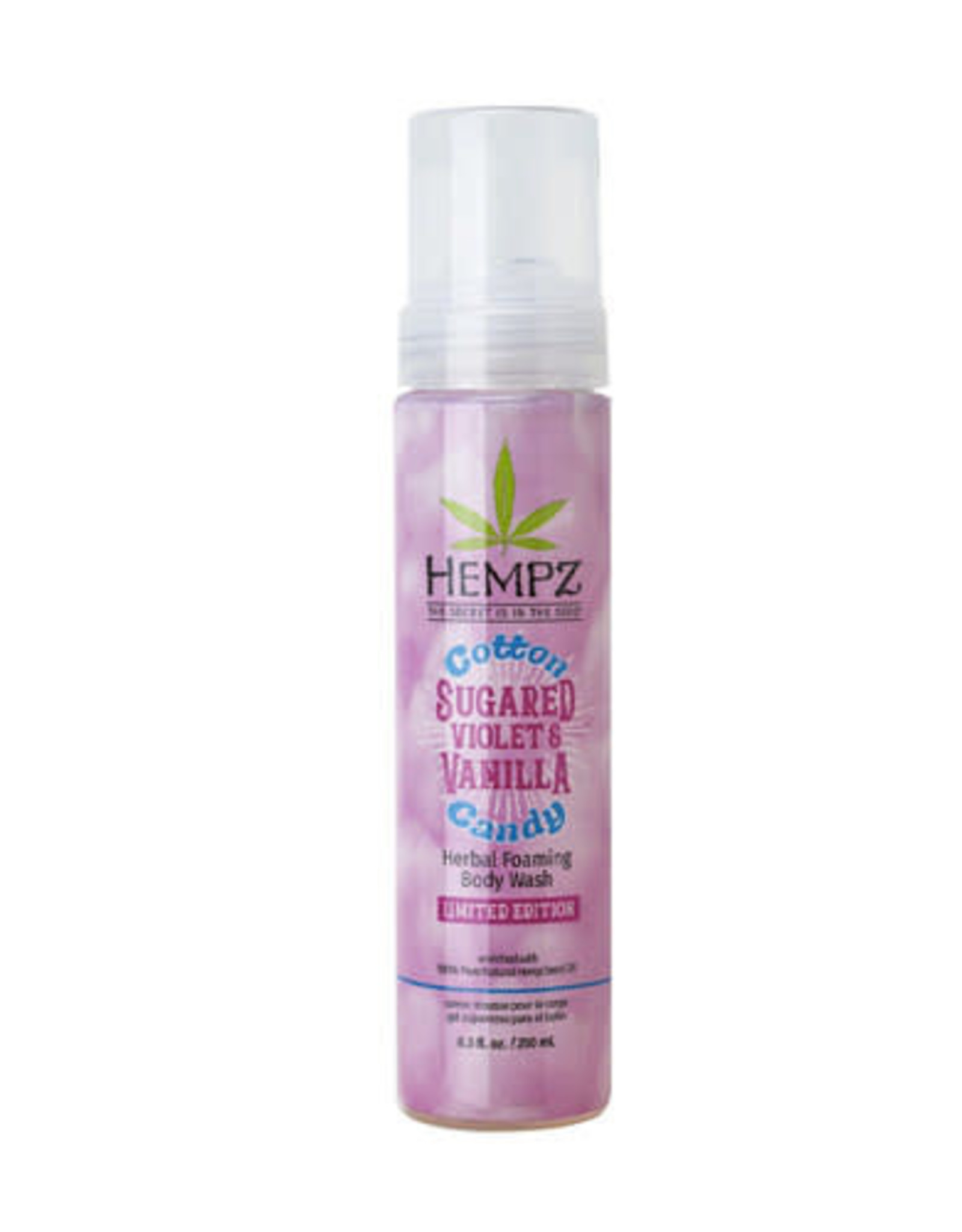 Hempz Foaming Herbal Body Wash 8.5oz Sugared Violet & Vanilla