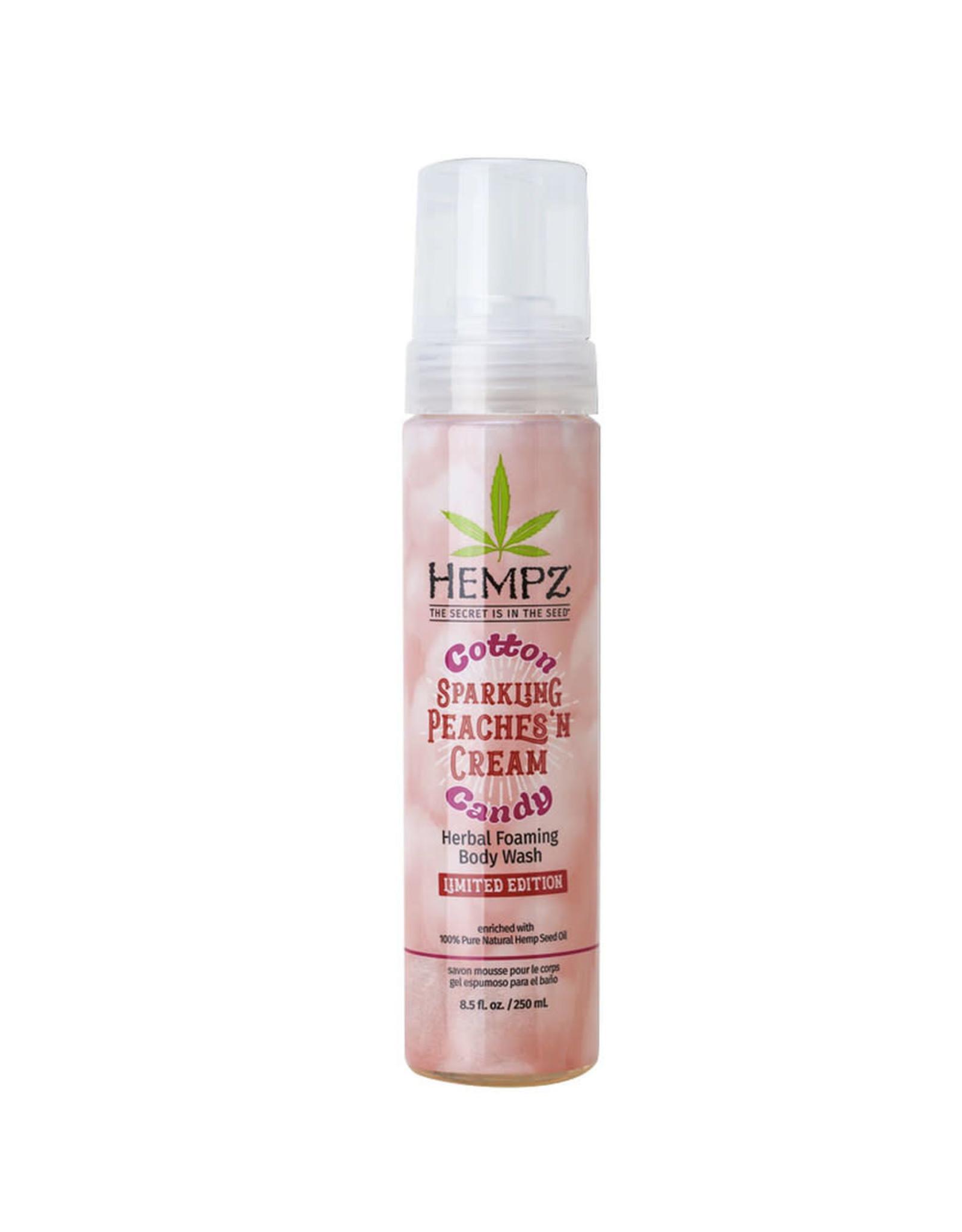 Hempz Foaming Herbal Body Wash 8.5oz Sparkling Peaches 'n Cream