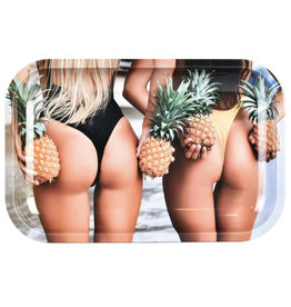 """Pulsar 11"""" x 7"""" Rolling Tray - Pineapple Bums"""
