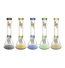 """10"""" 7mm Beaker w/ Ice Pinch & Colour Accents by Infyniti"""