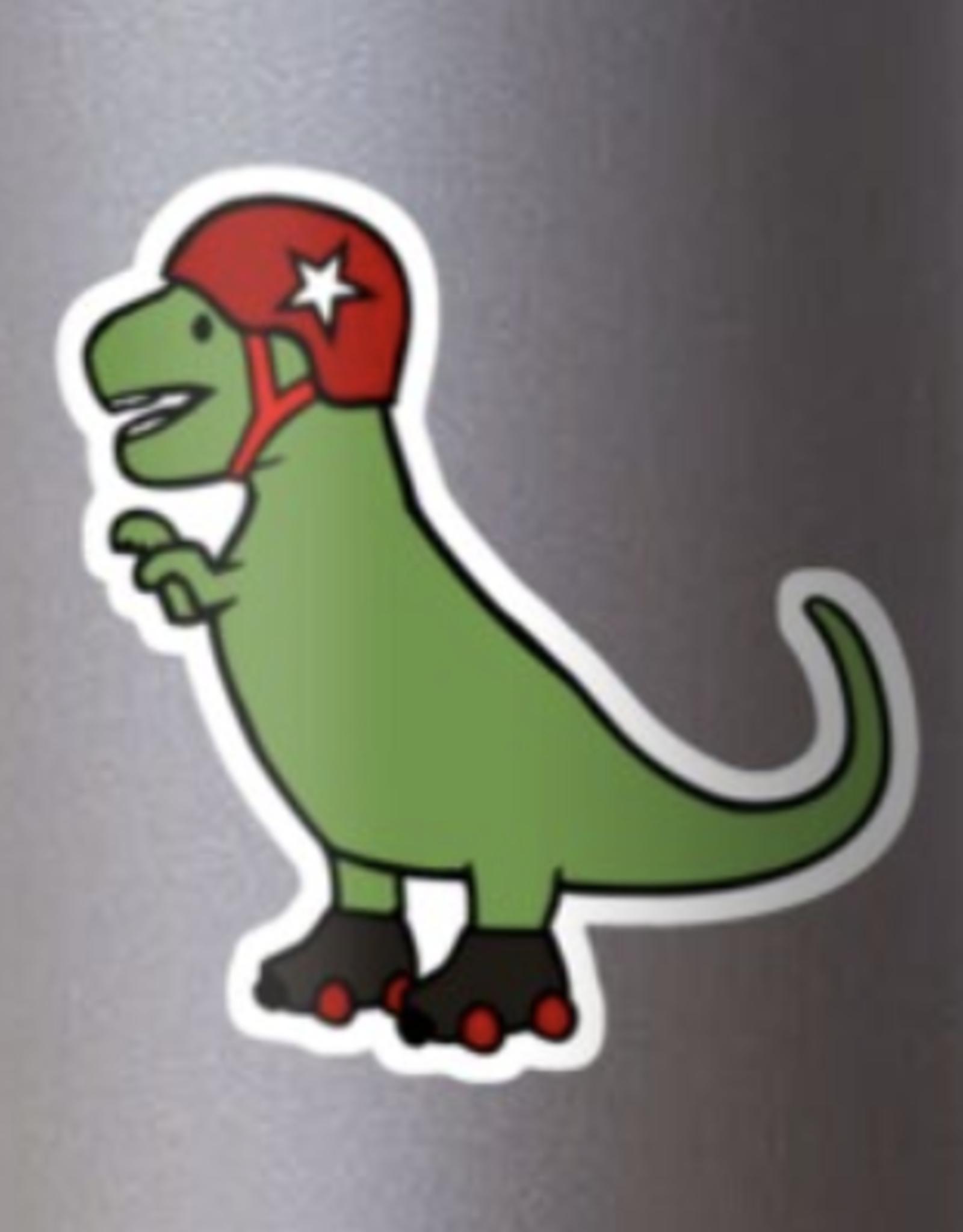 Roller Derby T-Rex Sticker