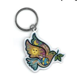 Dan Morris Peace Dove Metal Keychain