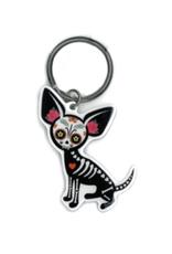 Evilkid Chihuahua Muerte Keychain