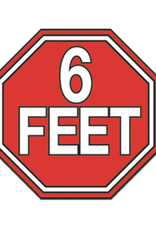 6 Feet Enamel Pin
