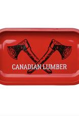 "Canadian Lumber Metal Rolling Tray 10.5""x6.25"" - Big Red"
